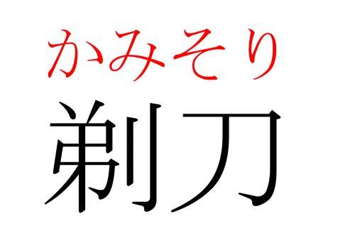 剃刀,かみそり,漢字,読み方,クイズ