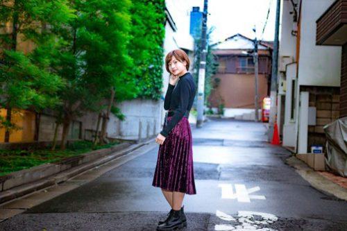 CanCam it girl,鈴木康代,ベロア,スカート,