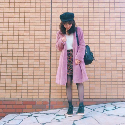 CanCam it girl,渡辺光沙子,ファーコート,Sサイズ,ファッション