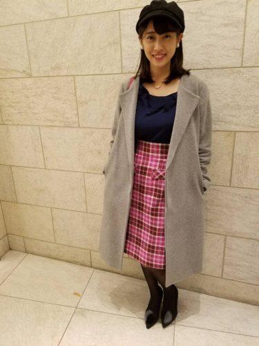 CanCam it girl,小湊愛巳,ファッション,トレンド,コート,チェック,スカート