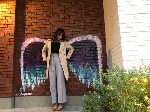 CanCam it girl,寺西麻帆,ファッション,トレンド,グレーパンツ