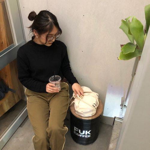 CanCam it girl,森綾伽,福岡,おしゃれ,カフェ,FUK COFFEE