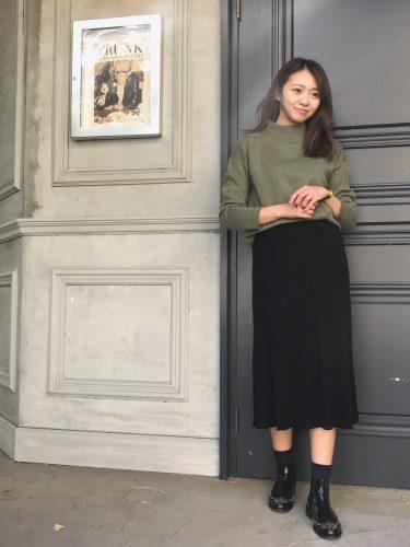 尾身綾子,リブスカート,ユニクロ,コーディネート,トレンド