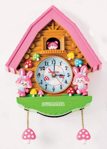壁掛け時計(ピンク)