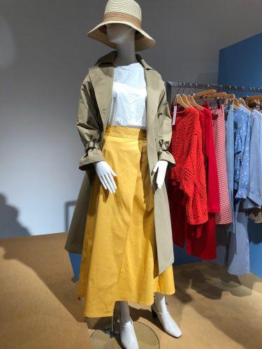 GU展示会速報のイエロースカート