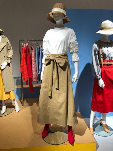 GU展示会速報のチノスカート
