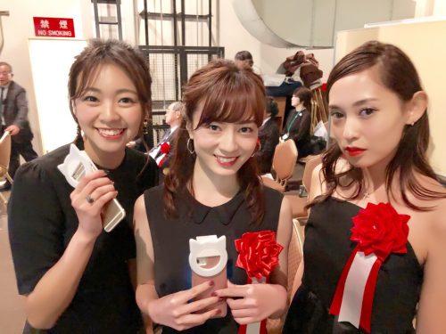 CanCam it girlの3名、中村麻美さん・白石明美さん・尾身綾子さんも笑顔