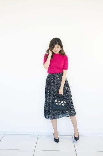 ユニクロ,プリーツスカート,トレンド,ファッション,春