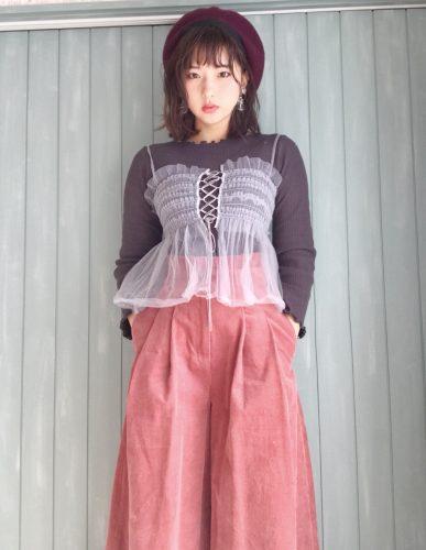 CanCam it girl,搗宮姫奈,春,コーデ,ファッション,ビスチェ