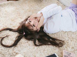 髪のハートマーク