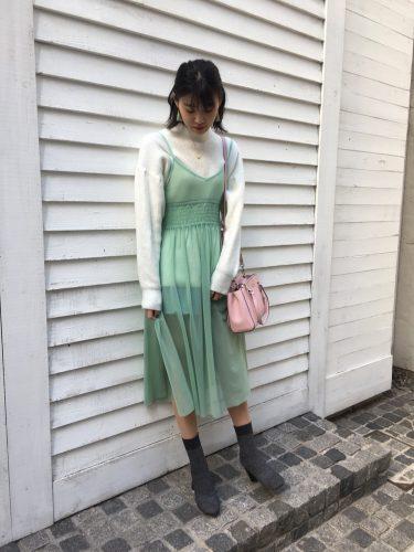 CanCam it girl,瀧川寧,春,ファッション,ワンピース,SLY