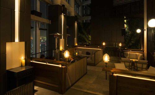 Rooftop Bar/アンダーズ東京、スパークリングワイン、店内、和