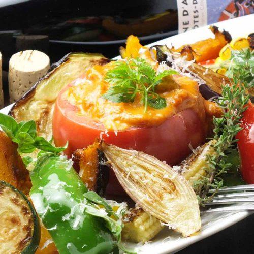 オーガニック野菜×バルkitchen kampo's、野菜、オーガニック野菜、トマトチーズフォンデュ、チーズフォンデュ