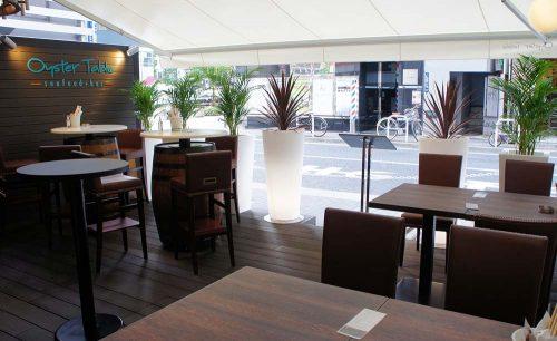 オイスターテーブル 浜松町店、テラス席、浜松町、大門