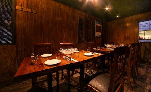 シーフード酒場 牡蠣スター、お店、店内、内装、ウッディ