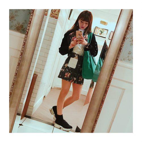 CanCam it girl横塚まよのスポーティミックスコーデ