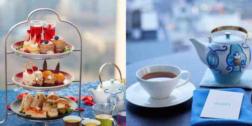スカイラウンジ オーロラ,京王プラザホテル,アフタヌーンティー,有田焼き,紅茶