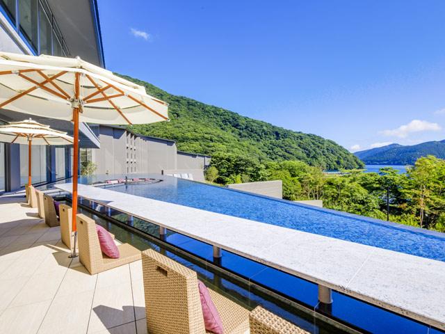 箱根・芦ノ湖 はなをり、足湯、温泉、露天風呂