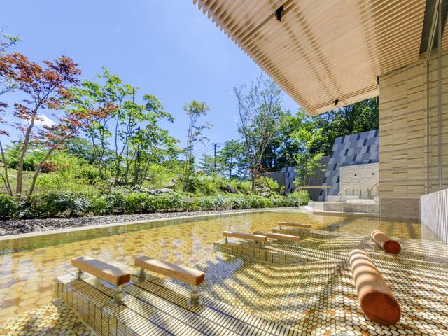 箱根・芦ノ湖 はなをり、寝湯、温泉。箱根、露天風呂