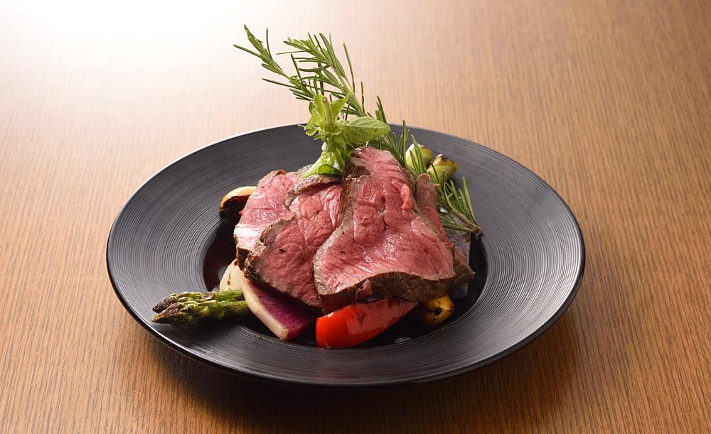 オーガニック野菜×バルkitchen kampo's、レストラン、お肉、ローストビーフ