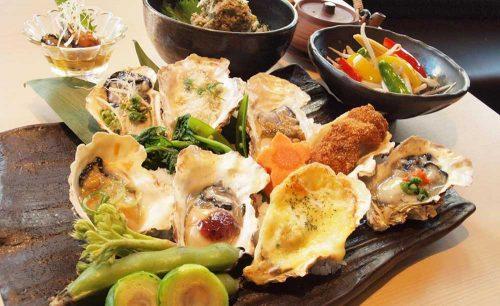 牡蠣屋うらら 飯田橋店、牡蠣料理、飯田橋、総武線沿い