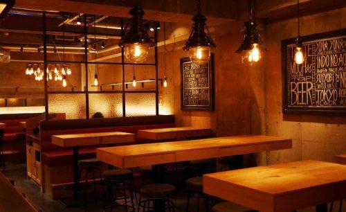 YONA YONA BEER WORKS 青山店、店内、落ち着いた雰囲気