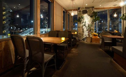 Cafe & SAKANA Bistro Bojun tomigaya、裏渋谷、料理、レストラン、店内