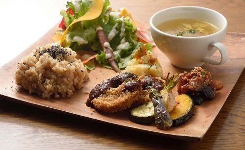 Cafe & SAKANA Bistro Bojun tomigaya、ワンプレートランチ、裏渋谷、料理、レストラン