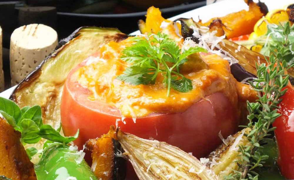 オーガニックイタリアンバル La sana 銀座店、トマトフォンデュ、野菜
