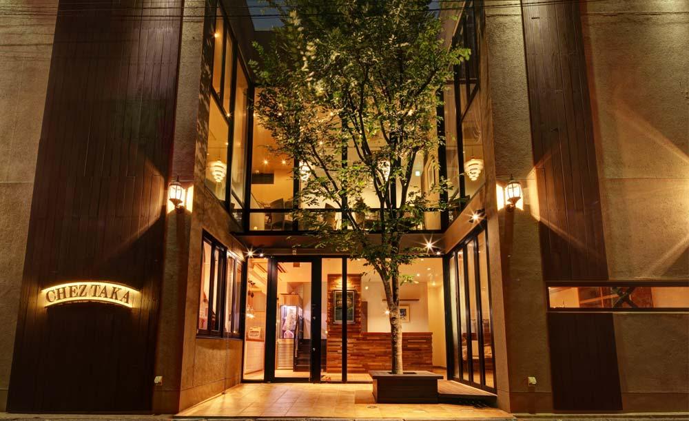 Chez TAKA HIGASHIAZABU、外観、レストラン