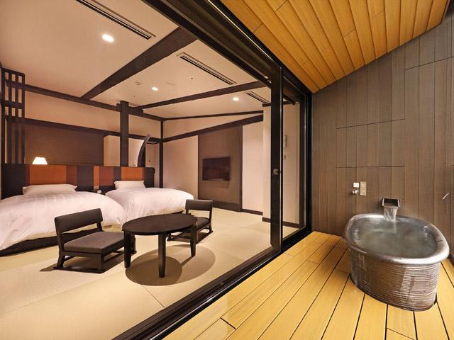 箱根小涌園 天悠、箱根、温泉、お部屋、部屋風呂、露天風呂