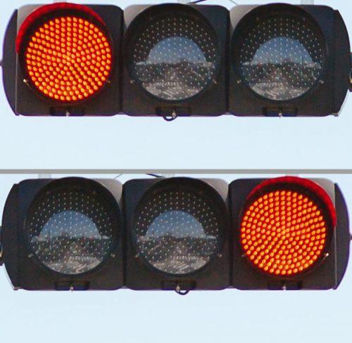 信号機の正しい並びはどっち?