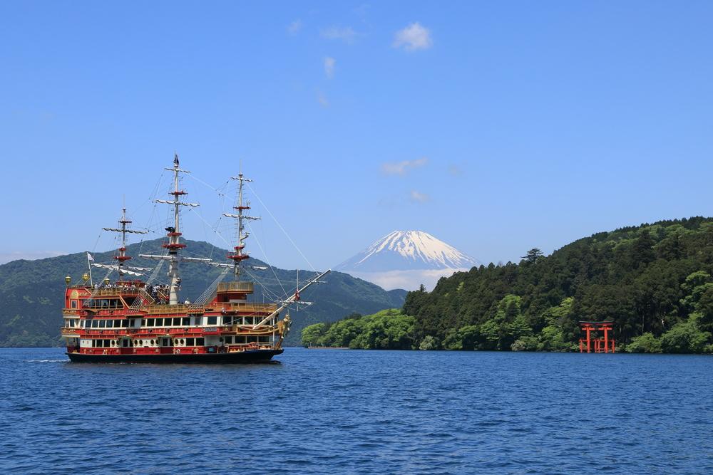箱根、芦ノ湖、富士山