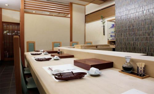寿司 高はし、店内、内装、カウンター
