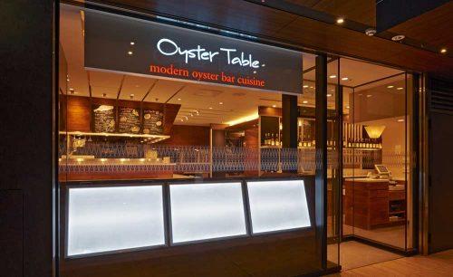 オイスターテーブル 上野さくらテラス店。店構え、外観