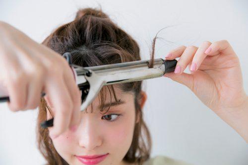 ■きゅんカール前髪の作り方