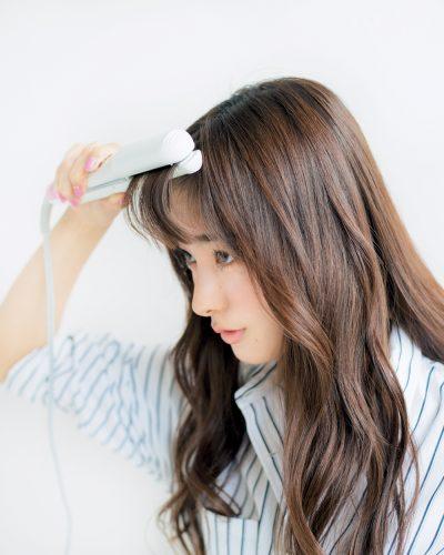 伸ばしかけにも◎流し前髪の作り方