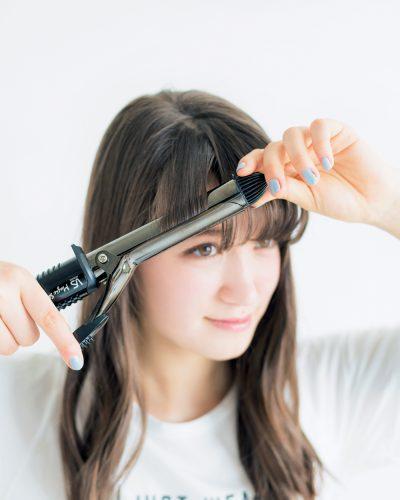 きゅんカール前髪×セミロングヘア