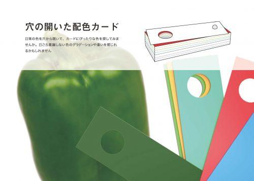 ■穴の開いた配色カード(原脩造さん/山田龍平さん)