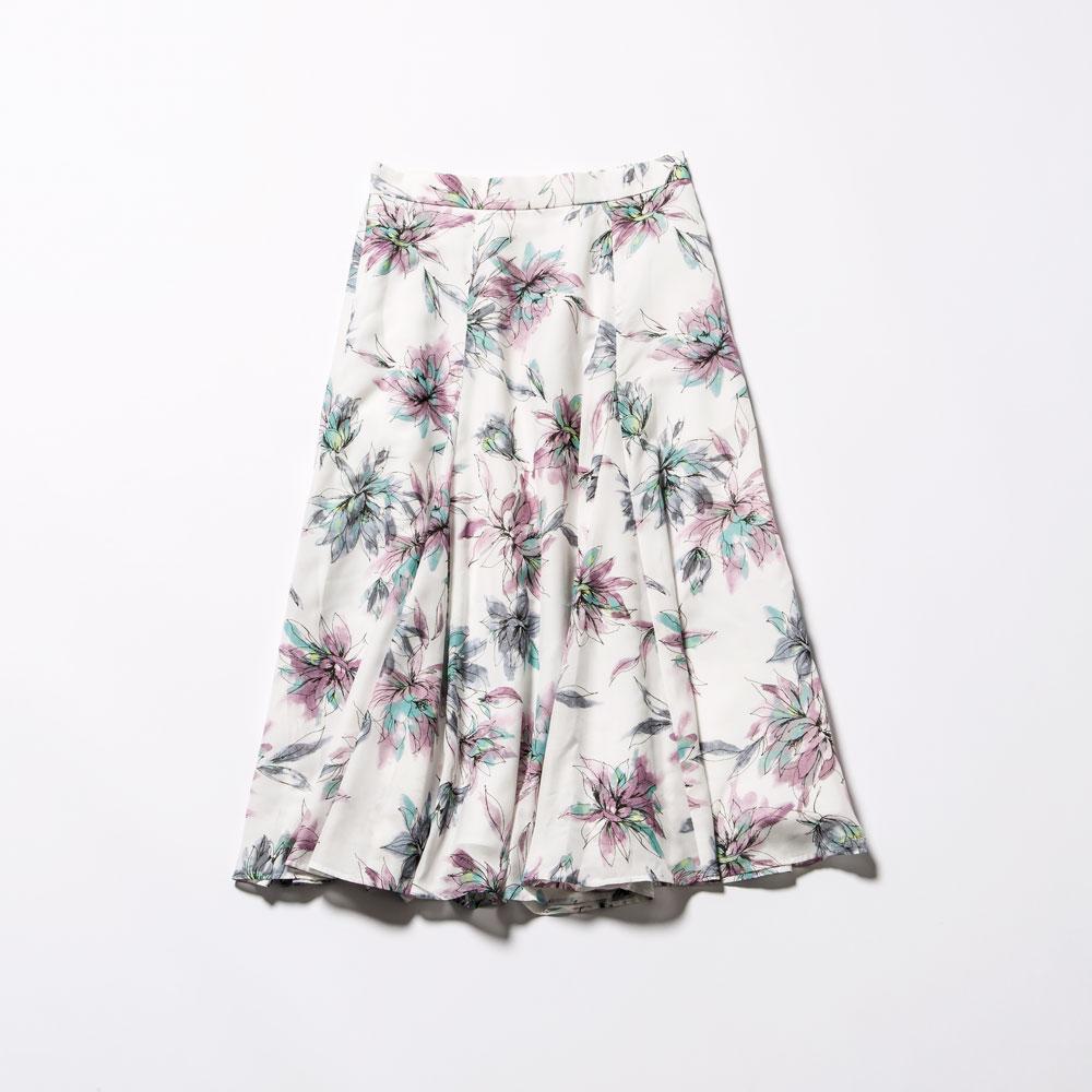 フラワープリントスカート2