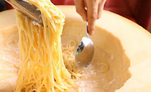 フランバル ボヌール、チーズ、パスタ、