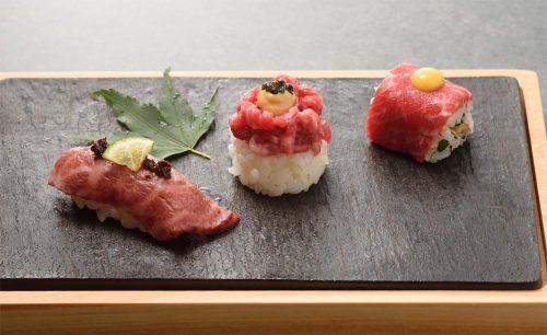 焼肉会食 舌牛 銀座店の肉寿司