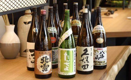 上越やすだ 銀座店、日本酒