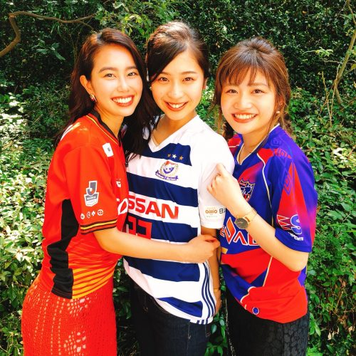Jリーグ、ユニホーム、名古屋グランパス、横浜F・マリノス、FC東京、渕上舞、米山珠央、谷山響