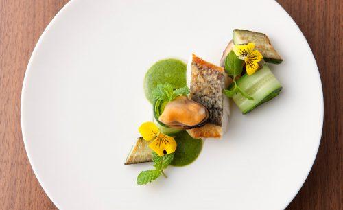 CLASKA Restaurant ''kiokuh''、魚料理