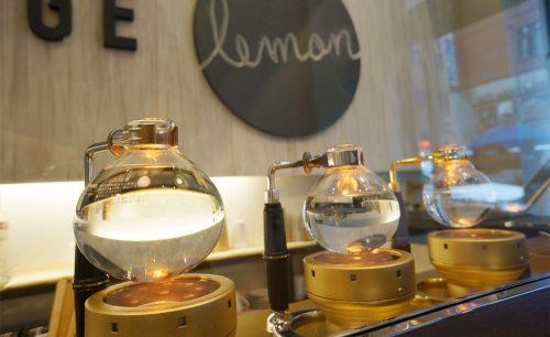 CoffeeLounge Lemon。サイフォン