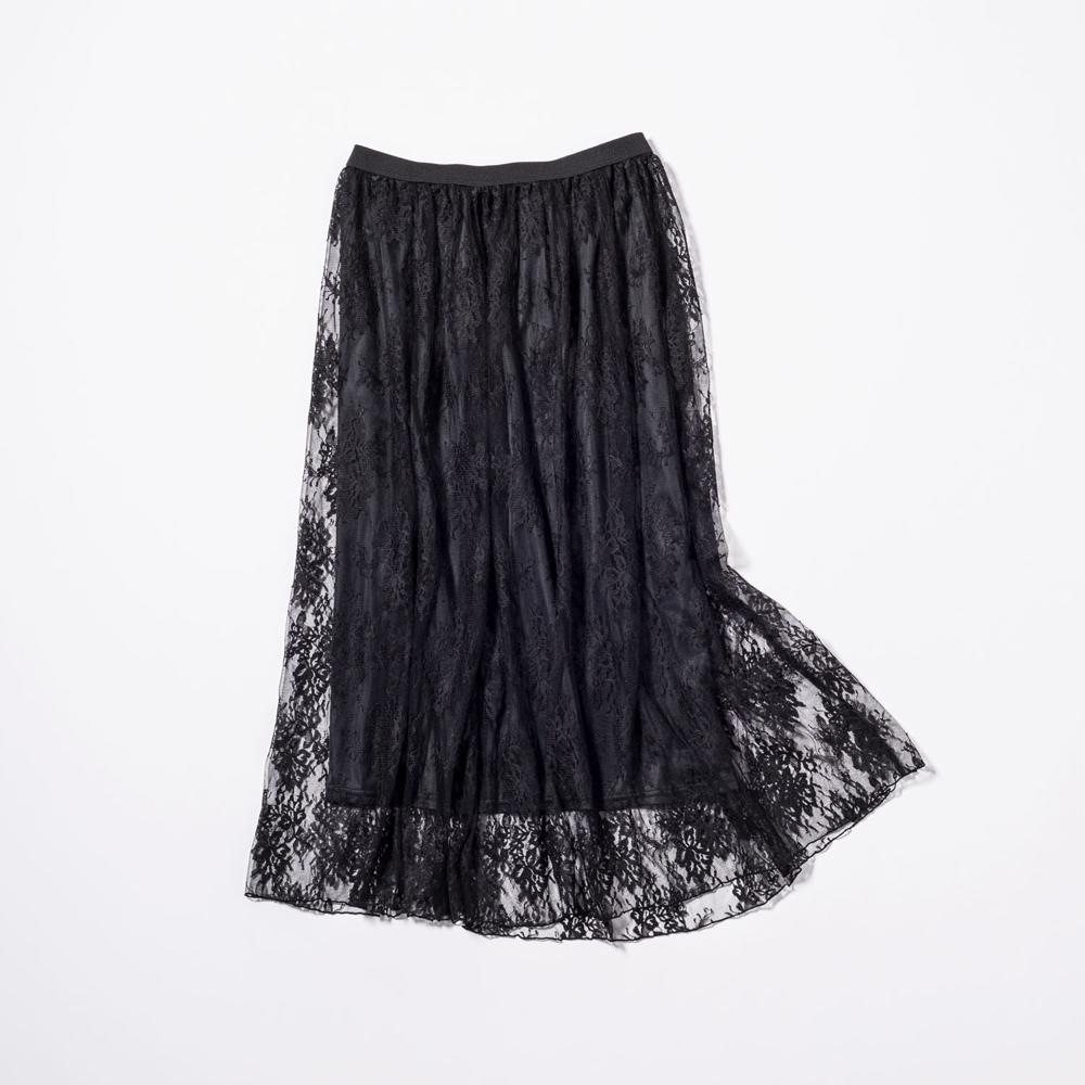 ペチコート付きスカート¥15,000(Stola./ストラ)