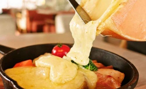 CheeseTable 渋谷店のラクレットチーズ