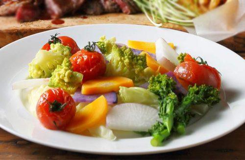 両国テラスカフェの野菜