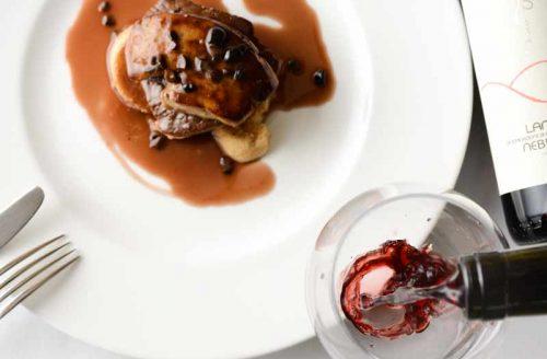 リストランテ ポルトファーロ/ベイサイドホテル アジュール竹芝の料理と赤ワイン